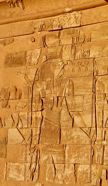 South wall, Lion Temple (Temple of Apedemak), Musawwarat es-Sufra, Sudan, North-east Africa