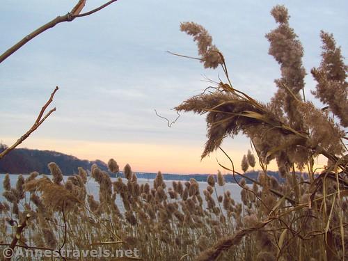 Sunset over Irondequoit Bay near the Irondeqoit Lakeside Trail, Rochester, New York