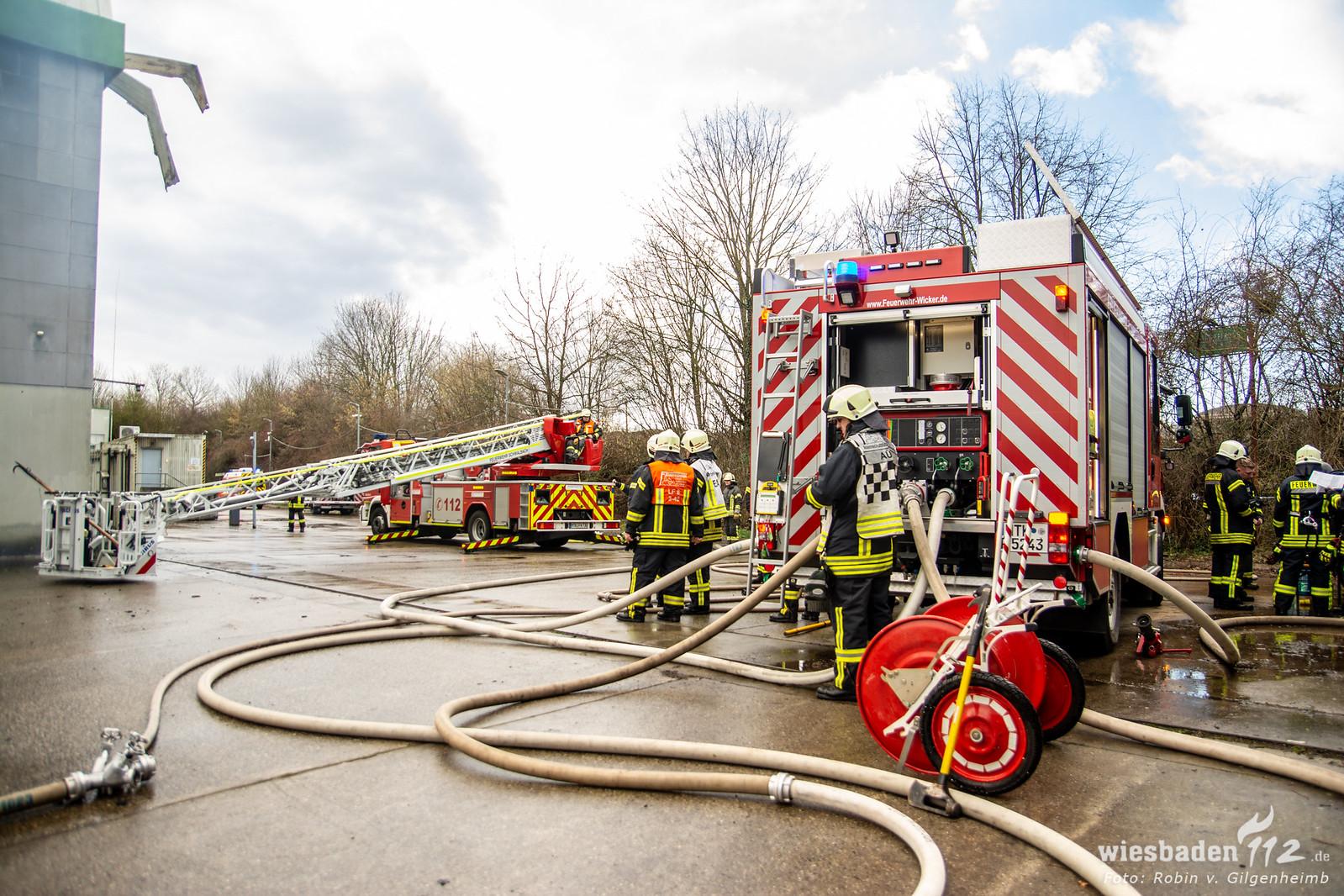 Brand Deponie Flörsheim 12.02.2020 8