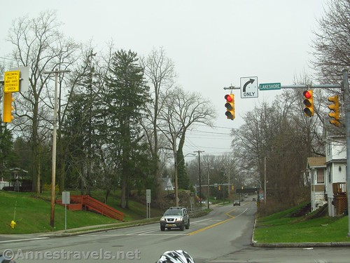 The St. Paul intersection on the Irondequoit Lakeside Trail, Rochester, New York
