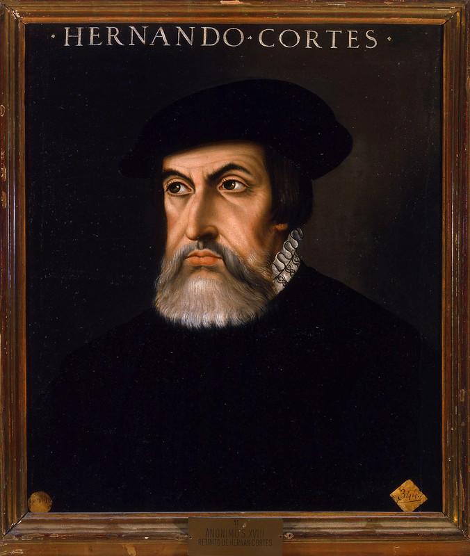 Portrait of Hernán Cortés by ANONYMOUS