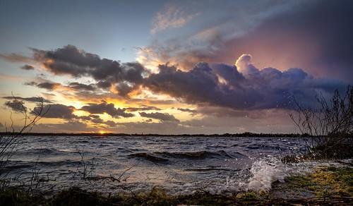 kortenhoef noordholland nederland loosdrecht looosdrechtseplassen horndijk cffaa sunset