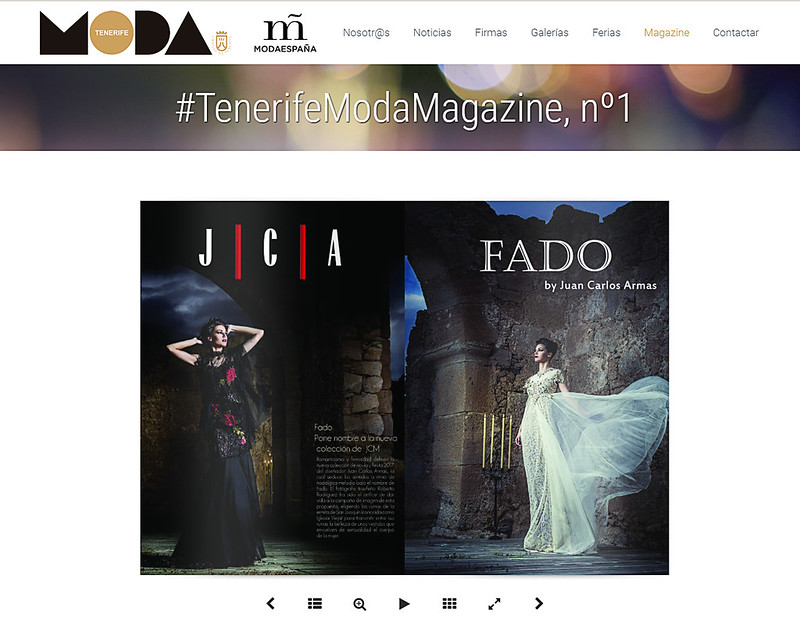Publicación en la revista 'Tenerife Moda Magazine' del Cabildo de Tenerife