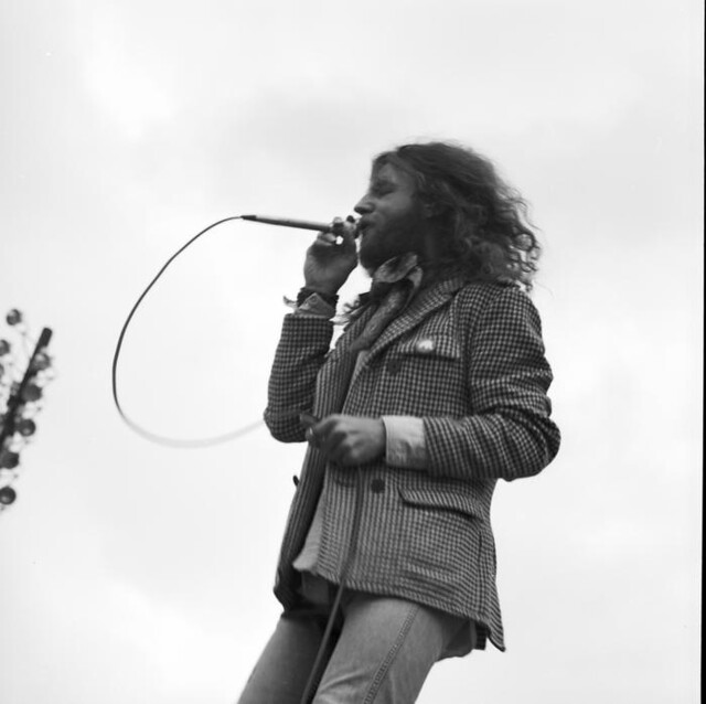 Rock festival at Sick's Stadium, 1970