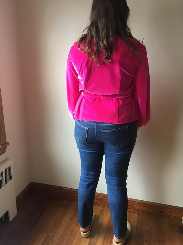 New Look 6560 in Neon Pink Stretch Velvet