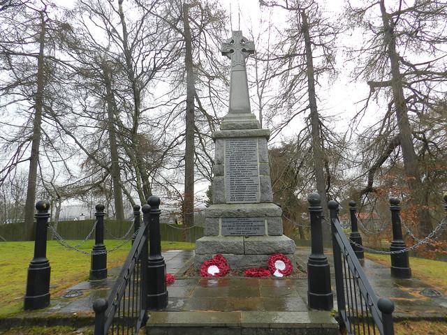 Newtonmore War Memorial, Newtonmore, Jan 2020