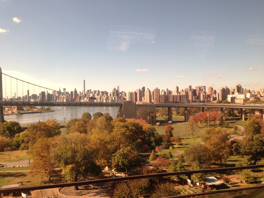 Manhattan, NYC, as seen from the train (to Boston)