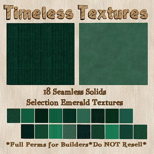 TT 18 Seamless Solids Selection Emerald Timeless Textures