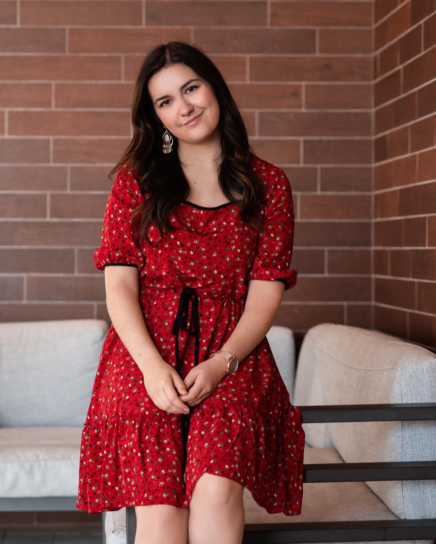marie-chloé falardeau robe rouge paysanne