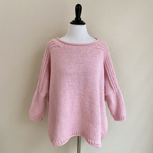 Worsted Boxy pullover