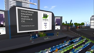 OSCC19 - Video Screenshot - Virtual World Educational Projects Overview at CVL