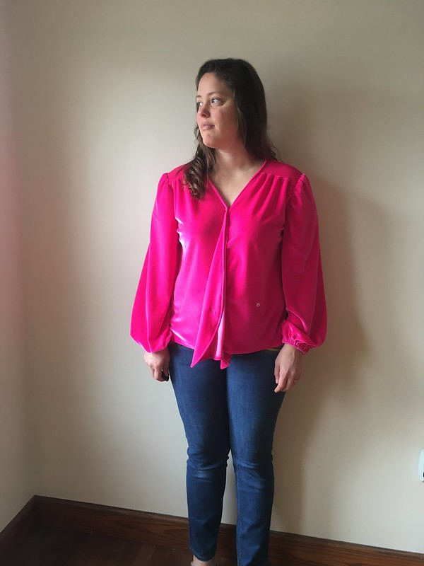 New Look 6560 in Neon Pink Stretch Velvet