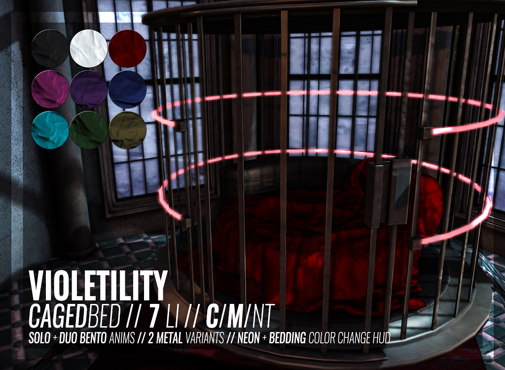 Violetility – Caged Bed