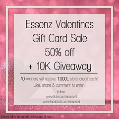 Essenz - Valentines Day Gift Card Sale & Giveaway