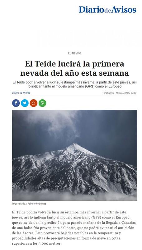 Publicación en el periódico Diario de Avisos (http://www.diariodeavisos.com)