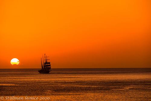 france exterieur pointenoire ciel nature vagues bateaux voilier coucherdesoleil antilles mer guadeloupe