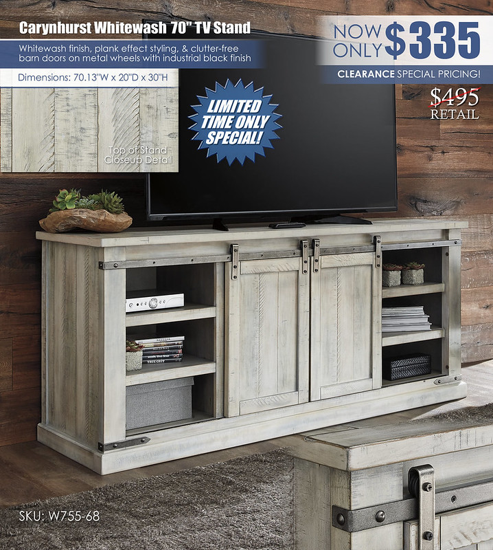 Carynhurst Whitewash 70in TV Stand_Clearance_W755-68-ALT