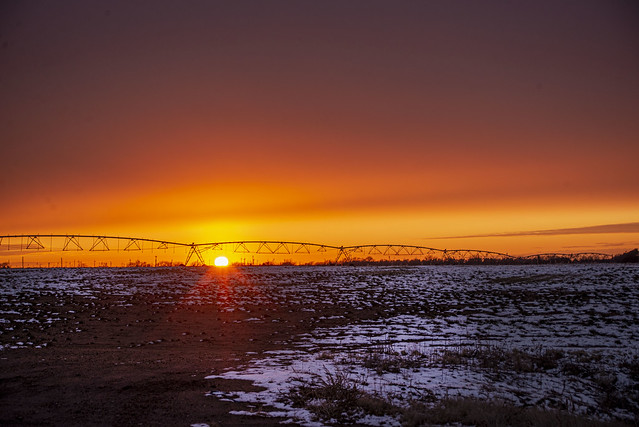 Snow Kissed Sunset