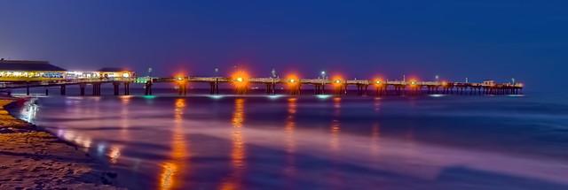 The Dania Beach Fishing Pier, Ocean Park Beach and Marina, 300 N Beach Road, Dania Beach, Florida, USA