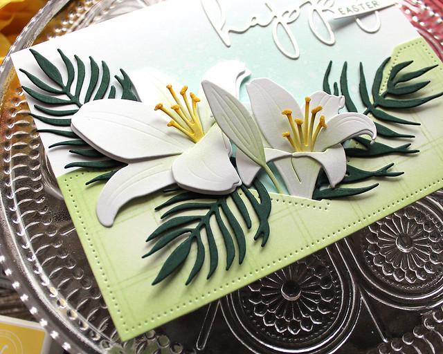 LizzieJones_TheGreetery_February2020_BotanicutsLily_BotanicutsPalm_HappyEasterCard2