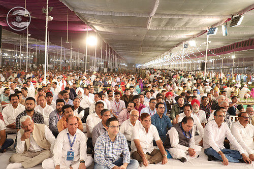 A view of audience seeking blessings