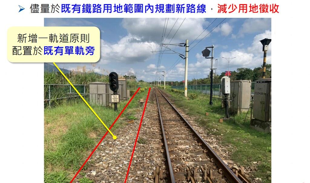 開發單位指出,將盡量利用既有鐵路用地規劃新路線,減少用地徵收。