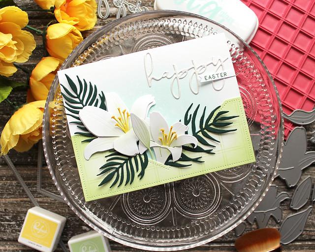 LizzieJones_TheGreetery_February2020_BotanicutsLily_BotanicutsPalm_HappyEasterCard