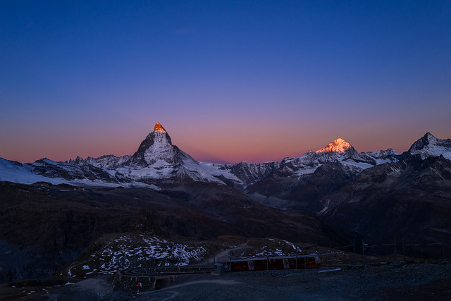 matterhorn sunrise and gornergrat bahn