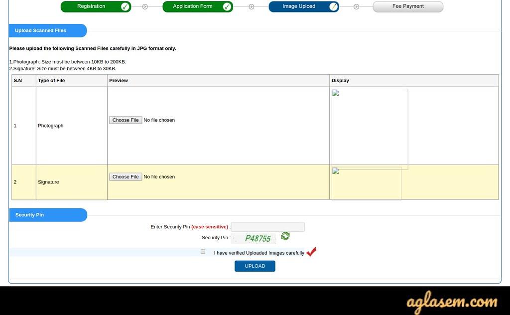 WBJEE JEHOM 2020 Application Form uploads