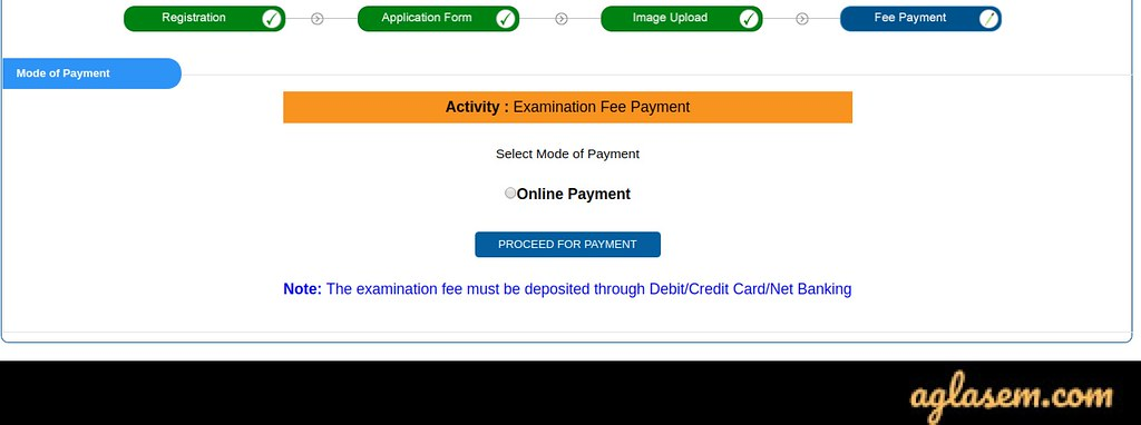 WBJEE JEHOM 2020 Application Form Payment