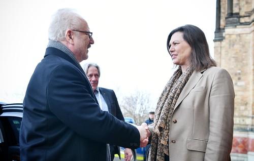 13.02.2020. Valsts prezidenta Egila Levita tikšanās ar Bavārijas Landtāga prezidenti Ilzi Aigneri (Ilse Aigner)