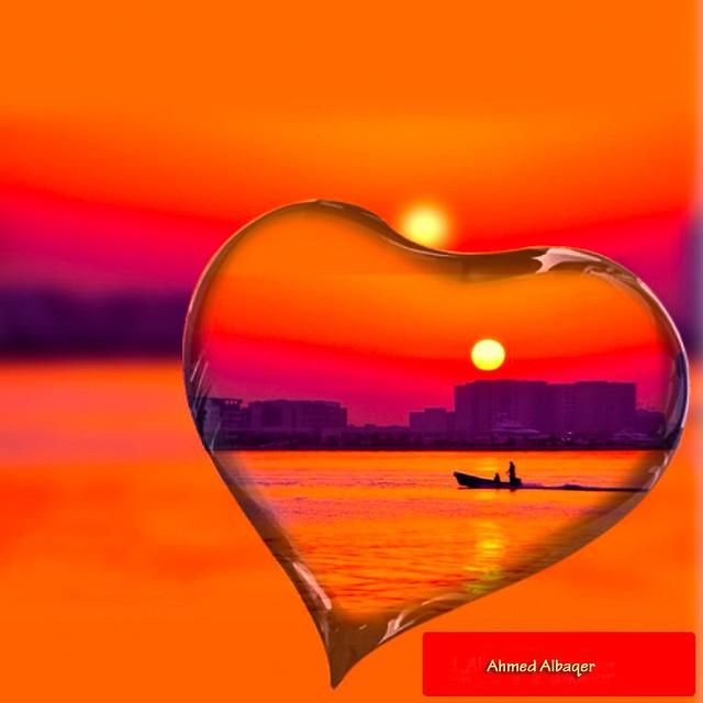 Orange  Sea sunrise الشروق البحـري ، برتقالي جميل