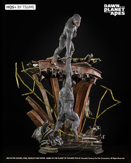 Tsume-Art HQS+系列《猩球崛起:黎明的進擊》「猩猩不會自相殘殺」1/5比例 場景雕像(DAWN OF THE PLANET OF THE APES Ape Not Kill Ape)