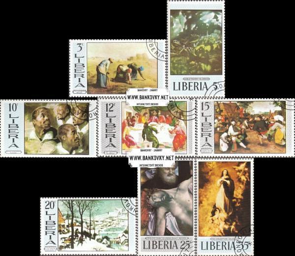 Známky Libéria 1969 Maľby, razítkovaná séria