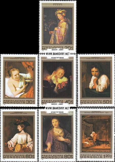 Známky Mongolsko 1981 Rembrandtove obrazy, razítkovaná séria