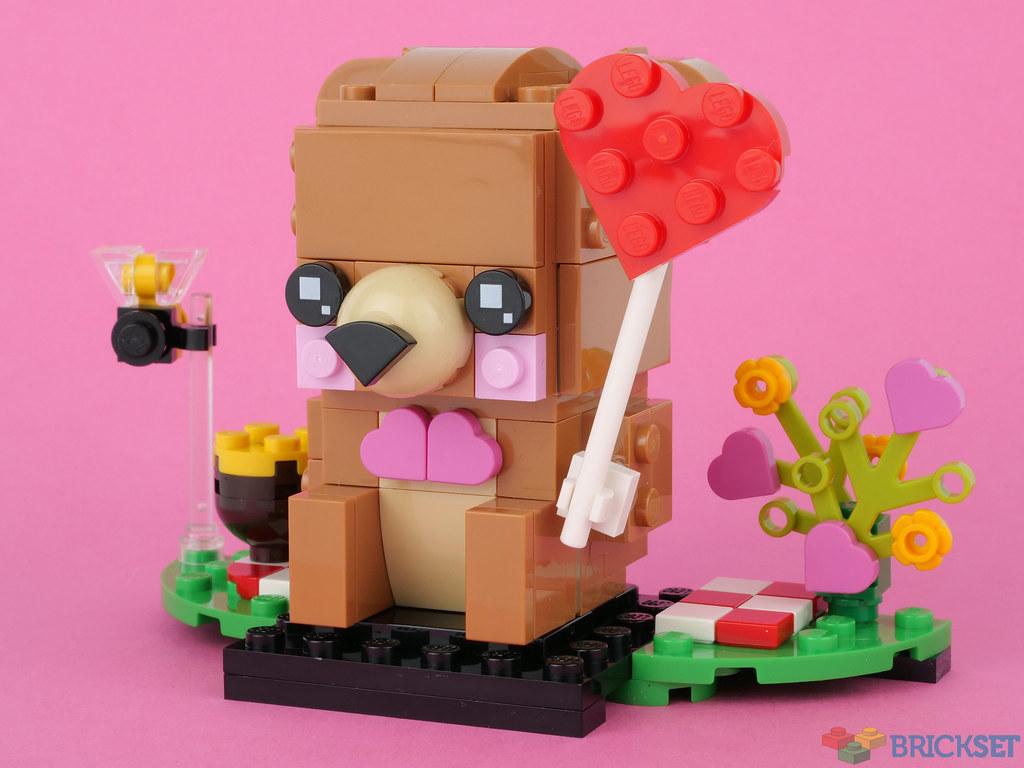 LEGO BrickHeadz 40379 Valentine's Bear review