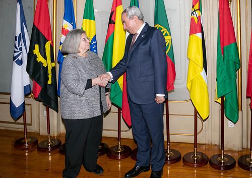 20.02. Secretário Executivo recebe Embaixadora da Representação de Portugal junto da CPLP