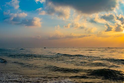 beach sunrise landscape colors