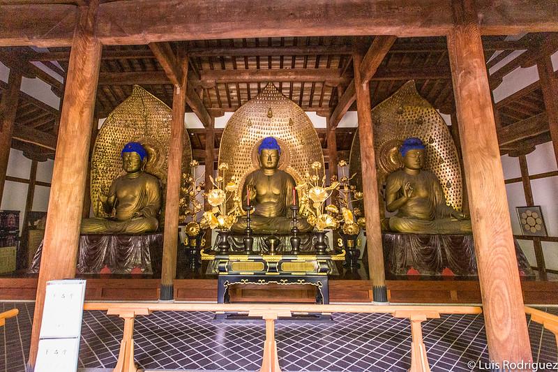 L'une des salles des trois bouddhas de Kuhon-butsu