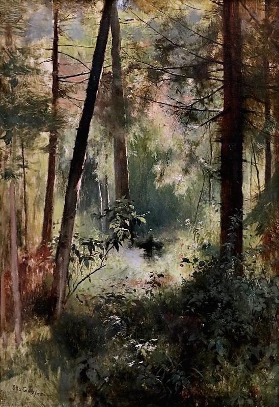 IMG_2488 Otto Gebler 1838-1917  München Intérieur de la forêt   Waldinneres Interior of the forest   sd  München Lenbachhaus