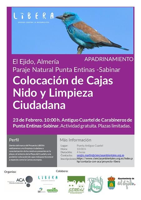 El Proyecto Libera vuelve al Paraje Natural Punta Entinas Sabinar