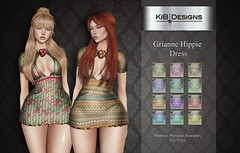 KiB Designs - Grianne Hippie Dress @Hash in Hippie,Peace and Love Fair