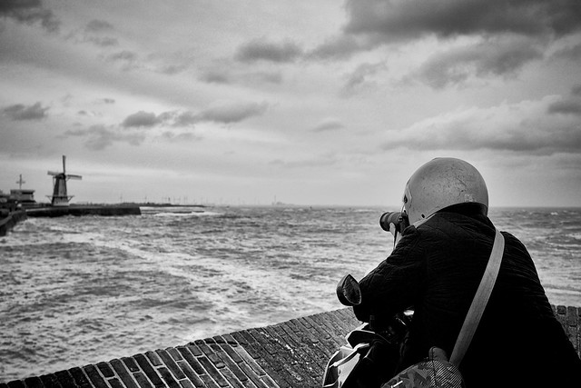 THE STORM, THE SEA - AND A PHTOTOGRAPHER, WELL PROTECTED...