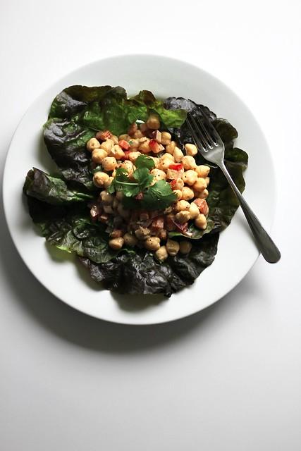chickpea-tahini salad