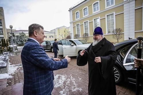 13 февраля 2020, Митрополит Кирилл принял участие в круглом столе «Социально-экономическое развитие России до 2050 года»