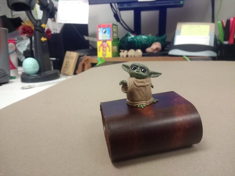 3D printed painted baby yoda