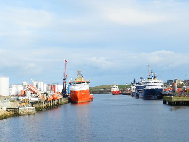 Aberdeen Harbour, Aberdeen, Oct 2019