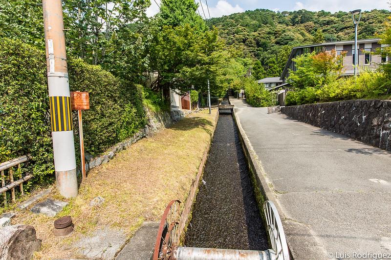 Agua que baja de la zona del templo Nanzen-ji