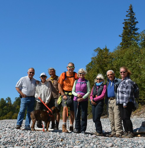 Lake Superior - all of us on the stone beach