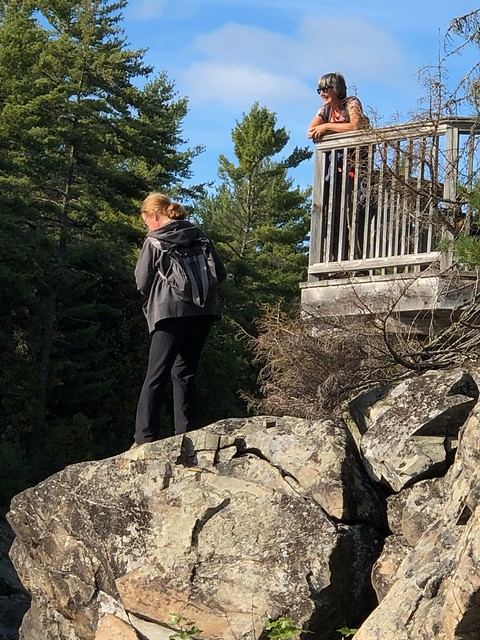 Chutes - Diane and Linda at the lookout